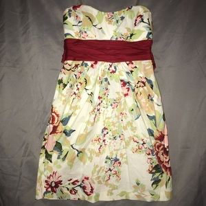 dELiA*s Strapless Floral Pleated Dress w/ Pockets
